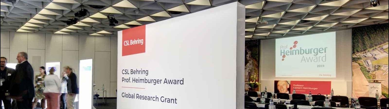Prof. Heimburger Award